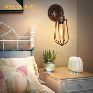 Image 4 - Vintage Industrial Wall Light,Rust Wall Lamp,светильник бра,Loft Wall Sconce Light Fixture 180° Adjustment,lampshade Up And Down
