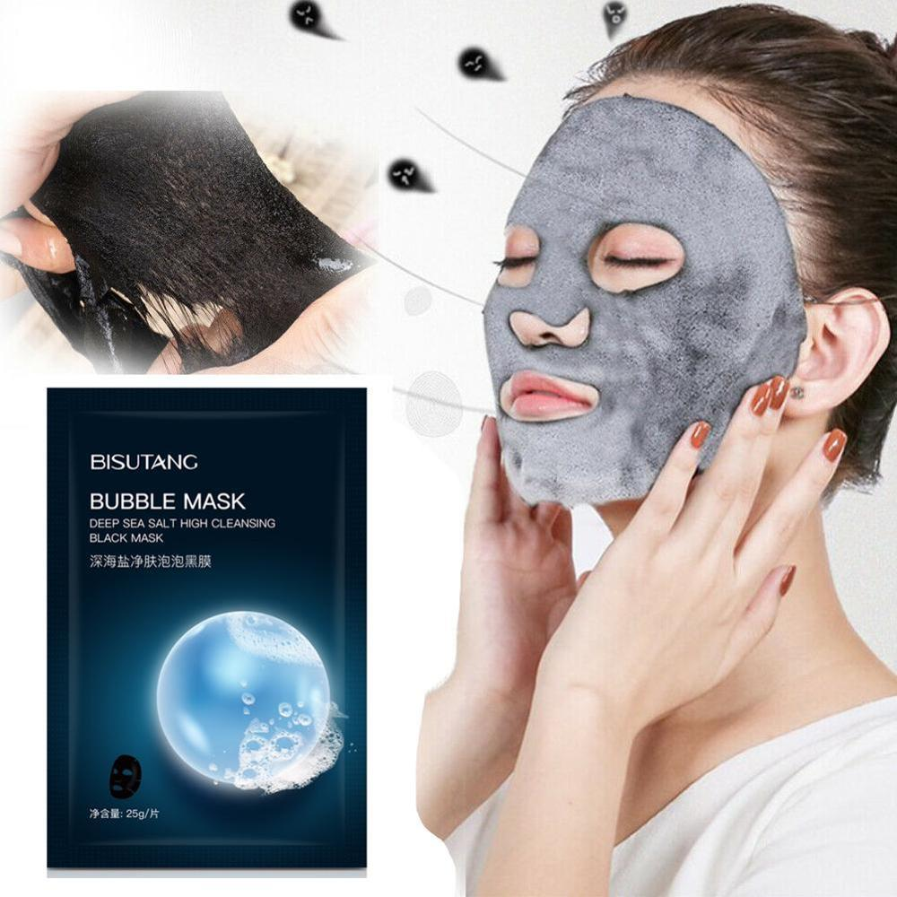 Repair Skin Bamboo Charcoal Deep Cleaning Hydration Oxygen Bubble Face Mask Face Nose Facial Mascara Black Head