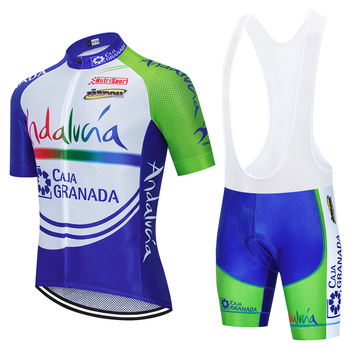 цена на NEW ANDALUZA Cycling TEAM jersey sportswear bike shorts Suit MTB Ropa Ciclismo BICYCLING Maillot Culotte Clothing