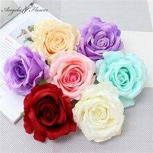 20pcs/lot 10cm artificial silk rose flower head DIY wedding flower wall arrangemnt decor home Christmas Valentine's Day gift box