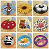 Mat Latch Hook Cushion Kit Embroidery Carpet Smyrna Knooppakket Button Cushion Animals Needlework Almofadas Do It Yourself DIY