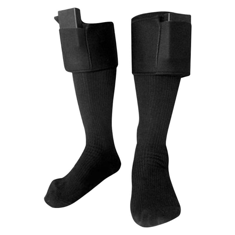 Women Men Cycling Socks Charging Battery Heated Cotton Socks Winter Rechargeable Battery Electric Heating Socks For Feet Warmer