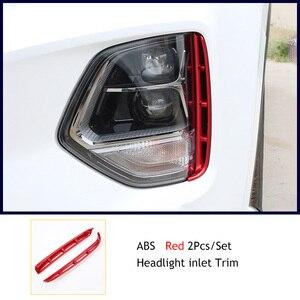Image 5 - Kit de faros antiniebla para Hyundai Santa Fe Santafe IX45 2019 2020, accesorios de exterior, estilo cromado, embellecedor de admisión de aire