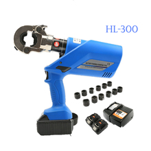 1PC HL-300 Rechargeable Hydraulic Pliers Machine 18V Electric Crimping Tools Battery Powered Wire Crimpers