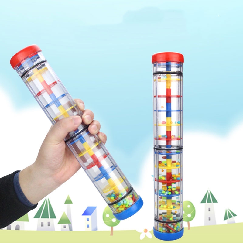 Rain Sound Tube Rainmaker Toy Plastic Four-Section Education Teaching Tools Music Durable Kids Gift Percussion Shakers Colorful