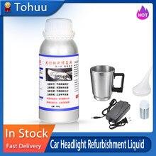 800ml carro farol reparação reparação reparação líquido auto farol restauração agente kit arranhões lâmpada renovação agente
