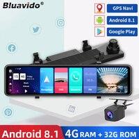 Bluavido 12 Zoll Auto Spiegel Android 8,1 DVR Dash Kamera 1080P Dual Objektiv WiFi GPS Navigation ADAS Remote Auto video Überwachung