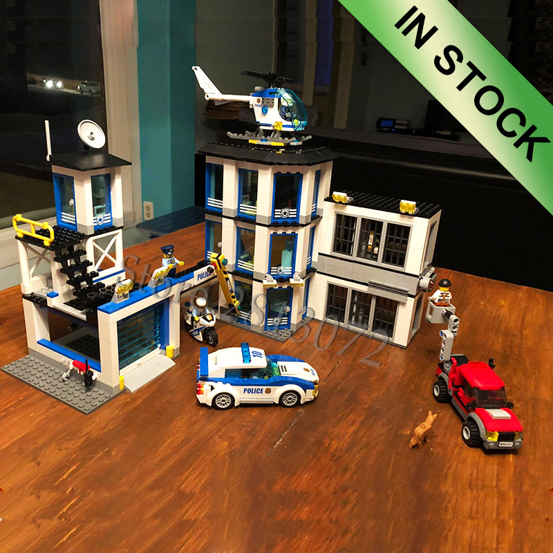In Stock City Series Police Station Bela  10660 894Pcs Building Blocks Bricks Toys Compatible With 60141 02020 Toys