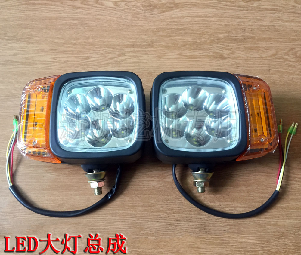 Xinyuan Yuanshan Jingong Small Loader Rubber Wheel Excavator Accessories LED Headlight With Turn Signal Headlight
