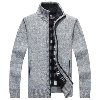 Sweater Men Clothes 2019 Winter Thick Warm Cardigan Men Cashmere Wool Sweater Coat With Cotton Liner Zipper Coats SW33
