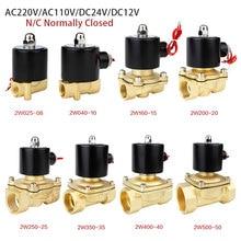 """Электрический электромагнитный клапан 1/"""" 3/8"""" 1/"""" 3/4"""" """" DN8/10/15/20/25/50 нормально закрытый Пневматического клапана для воды, воздуха на дизельном топливе, керосине внутренний 12V 24V 220V 110V"""