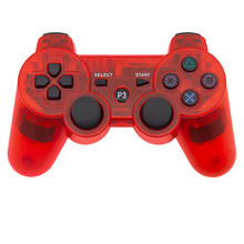 Wireless Bluetooth Gamepad Transparent Controller For Sony PS3 Playstation 3 SIXAXIS Video Game Controller
