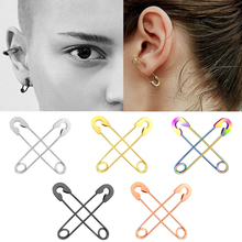 1PC Gothic Surgical Steel Helix Tragus Studs Earrings 5 Colors Ear Piercing Cartilage