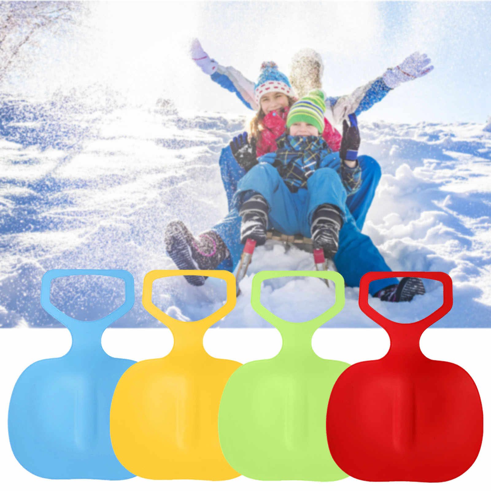 Afco Thicken Kid Adult Snow Sled Sledge Ski Board Sit On Sleigh Glider Outdoor Slider Skating Skating Skiing Snowing Accessories