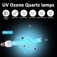 E27 uvc ultravioleta uv lâmpada de tubo de luz lâmpada de desinfecção ácaros esterilização de ozônio luzes germicida lâmpada 220v 15w 25w 35w