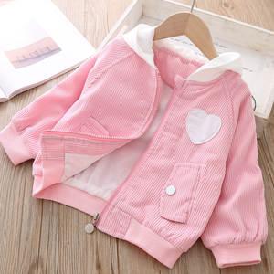 Baby Jacket Outerwear Coat Korean Hoodies Bebe Girls Kids New Fashion for 1-Year Xmas