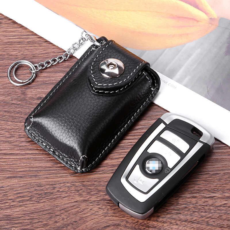 حزام ارتداء جلد طبيعي مفتاح ذكي حامل الخصر حامل مفتاح السيارة المغناطيسي مشبك Vintage حقيبة مفاتيح صغيرة Keysmart حقيبة صندوق للمفاتيح