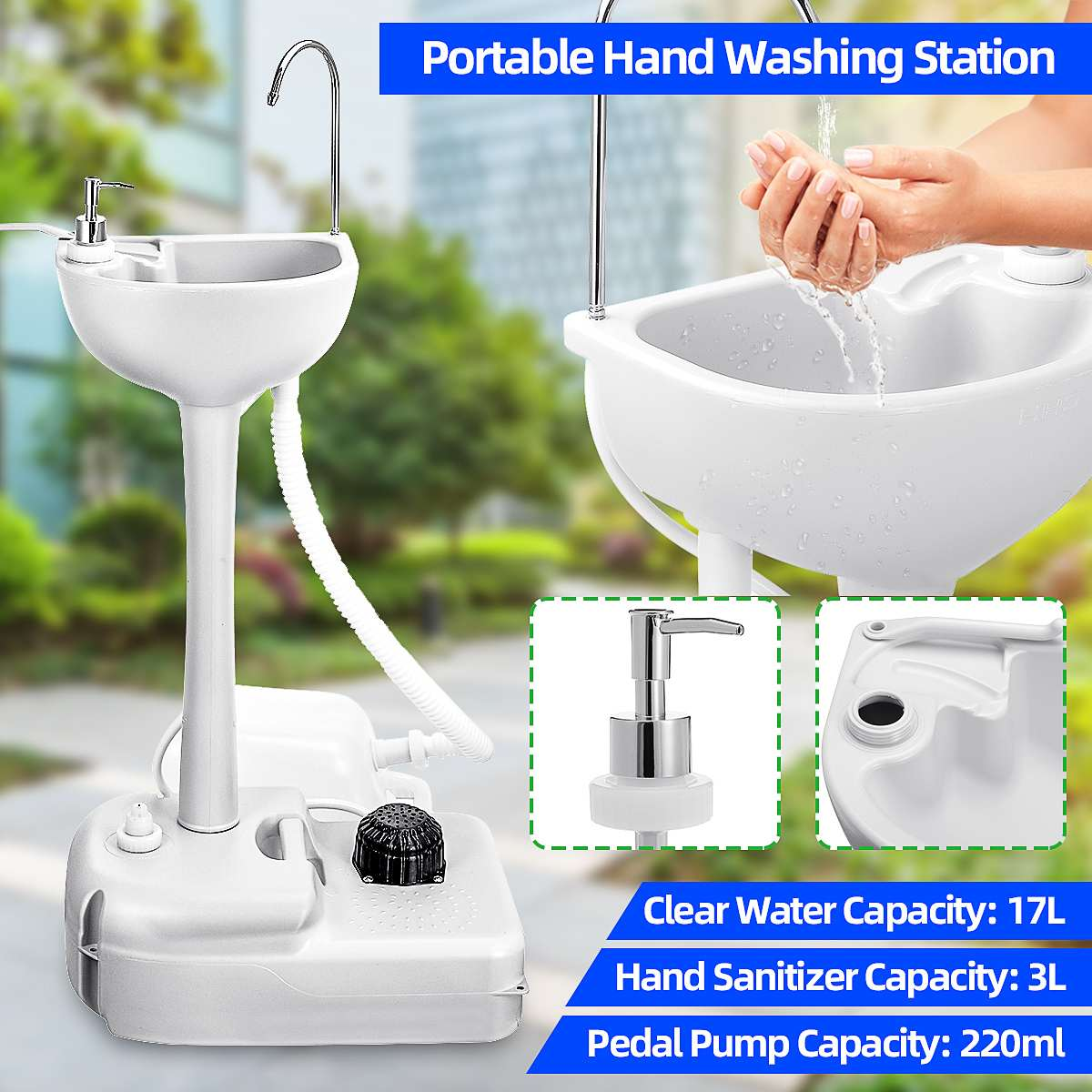 washing table portable washing station mobile freestanding hand wash sink for camping caravans outdoor activities