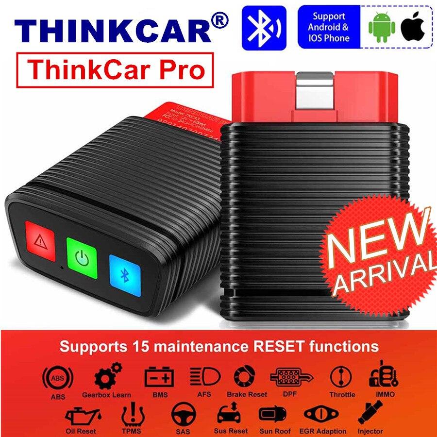 Lançamento original thinkcar pro obd2 scanner ferramenta de diagnóstico do sistema completo bluetooth 15 redefinir o serviço pk ap200 thinkdiag mini