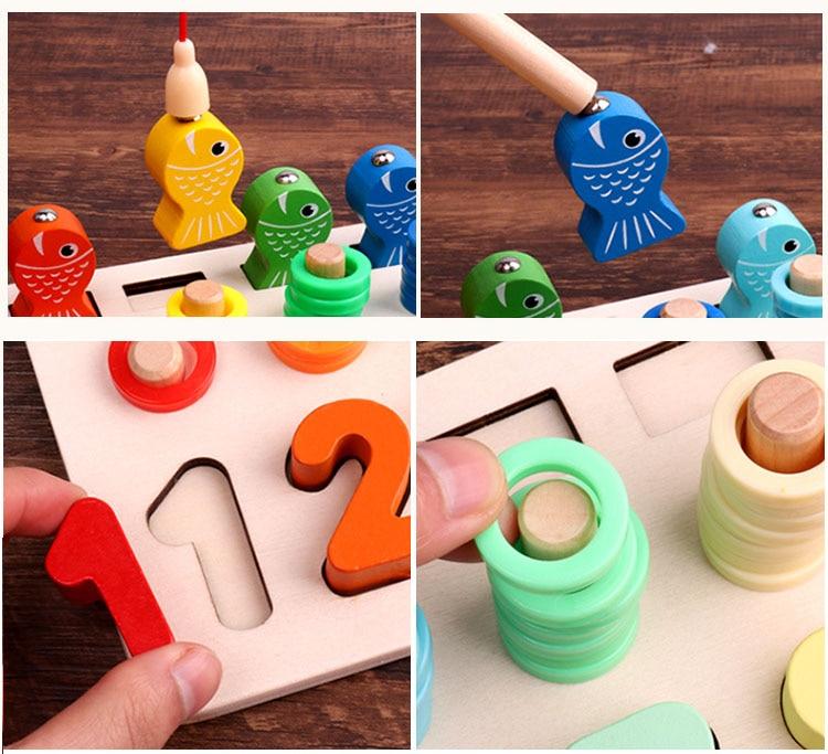 Novo multi-função pré-escolar de madeira montessori brinquedos
