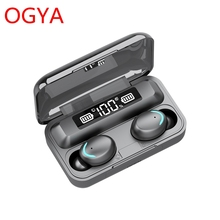 Wireless Bluetooth Earphone V5.0 F9-5C TWS Touch Control Stereo Sport Headphones Noise-Reduction Ear