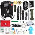 Аварийный набор для выживания  47 шт.  набор первой помощи для выживания  SOS  тактические инструменты  фонарик  нож с чехлом Molle для кемпинга  пр...