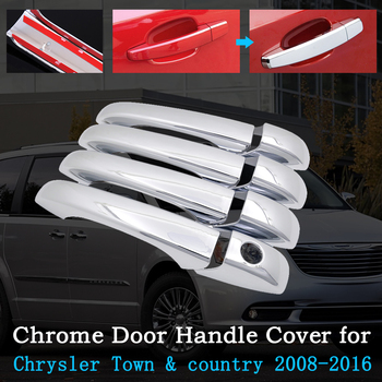 Chrome Car Door Handle Cover for Chrysler Town & Country Lancia Grand Voyager Grand Voyager 2008~2016 Trim Exterior Accessories