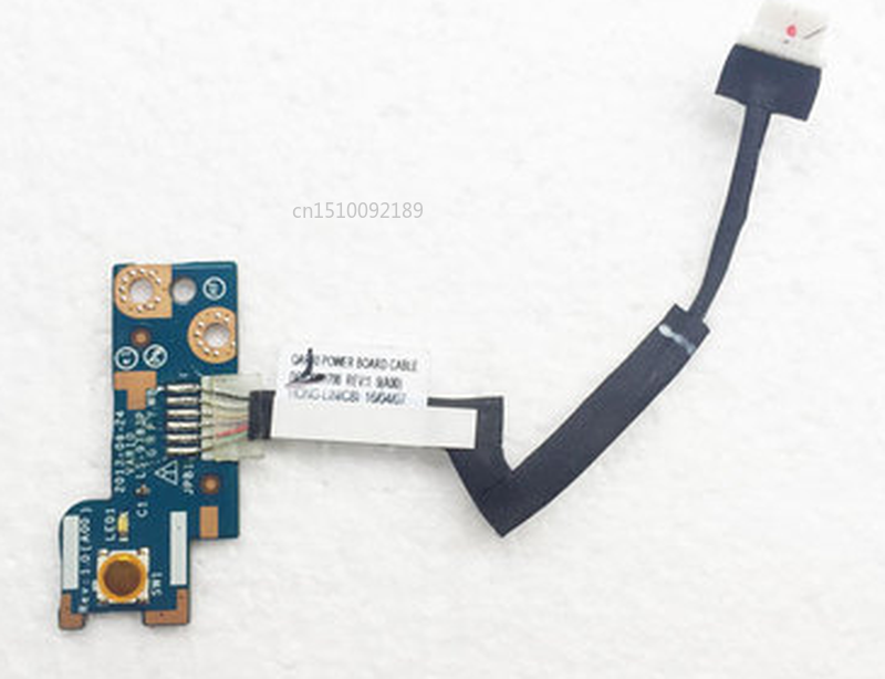 Free Shipping FOR Dell Precision M6800 M6600 POWER BUTTON BOARD+CABLE TUA01 LS-9783P Test Good