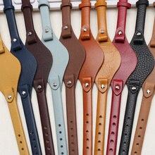 עור אמיתי רצועת השעון 8mm גודל קטן שעון חגורה עבור מאובנים ES4119 ES4176 ES3262 3077 שעון רצועות שעוני יד בנד עם מחצלת