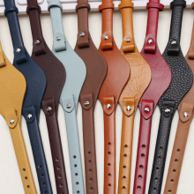 genuine leather watchband 8mm Small size watch belt for fossil ES4119 ES4176 ES3262 3077 watch straps wristwatches band with mat
