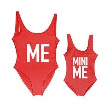 Children Bikini Swimwear Bathing-Suits Babe Daughter Mini Letter Me And Mom Print Mommy
