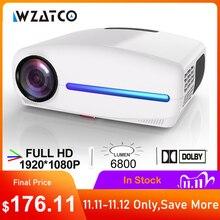 WZATCO C2 1920*1080P جهاز عرض LED بتقنية عالية الوضوح مع 4D الرقمية حجر الزاوية 6800 لومينز المسرح المنزلي المحمولة HDMI متعاطي المخدرات LED Proyector