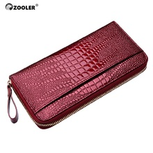 2017 ZOOLER woman genuine leather wallets  coin purse hot skin/cowhide designed pattern card holder zipper wallet luxury#8903