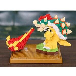 Image 5 - Weagleスーパーマリオピーチ姫クッパgoundhogムササビマリオ3Dモデルダイヤモンドミニビルディング小さなブロック玩具なしボックス