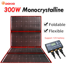 Solar-Panel Foldable Flexible 300W Dokio Outdoor 12V