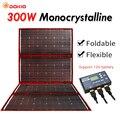 Dokio 300W 12V panneau solaire Flexible Portable panneau solaire pliable extérieur pour Camping/bateau/RV/voyage/maison/voiture kits de panneaux solaires