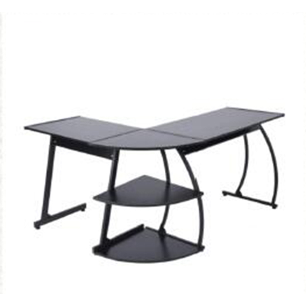 Home and Office L-Shaped Computer Desk Corner Desk Work Station with 2 Storage Layers--E2S