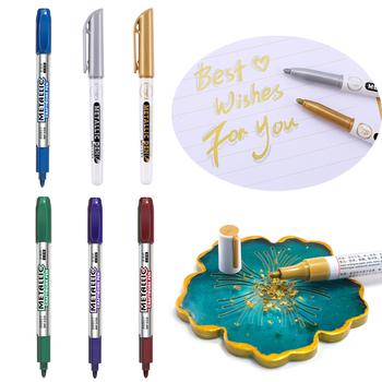 1 Pc mazak permanentny Craft Pen metalowa farba wodoodporna Pen DIY żywica klej Stroke narzędzie do rysowania Marker kolorowanie kolorowe pióro tanie i dobre opinie LIEBE ENGEL
