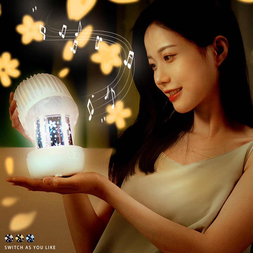LED Star Galaxy Projector Lamp Night lights Music Proyector De Galaxia Rotate Sterrenhemel Projection Light For Kids Girl Gift