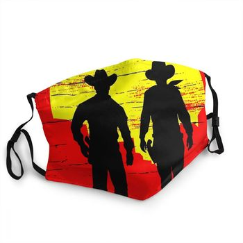 Red Dead Redemption Action-adventure Game Mascarilla Facial Mask Cowboys Of The Wild West Striding Masks Anti Dustproof Mask image