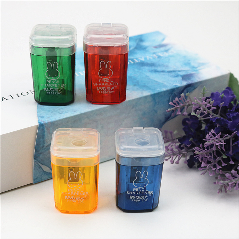 2pcs/lot M&G Pencil Sharpener Brand Stationery Good Quality Delicate And Cute Wooden Color Pencil Sharpener