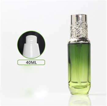 Green Eye Cream Bottle 40ml, Lotion Bottle With Gold Cap Travel Pot Cosmetic Packaging