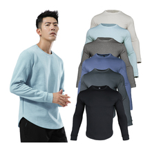 Shirt Running Training-Sweatshirts Gym Fitness Bodybuilding Breathable Solid Male Outdoor