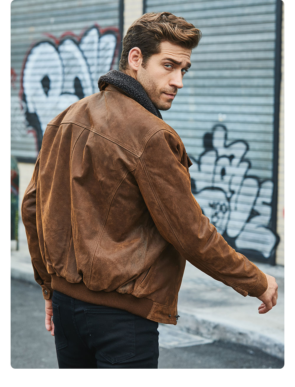 Hf1bf3f71e532418d83d6595d9d0f9ed0v FLAVOR Men's Real Leather Jacket Genuine Leather jacket with faux fur collar male Motorcycle warm coat Genuine Leather Jacket