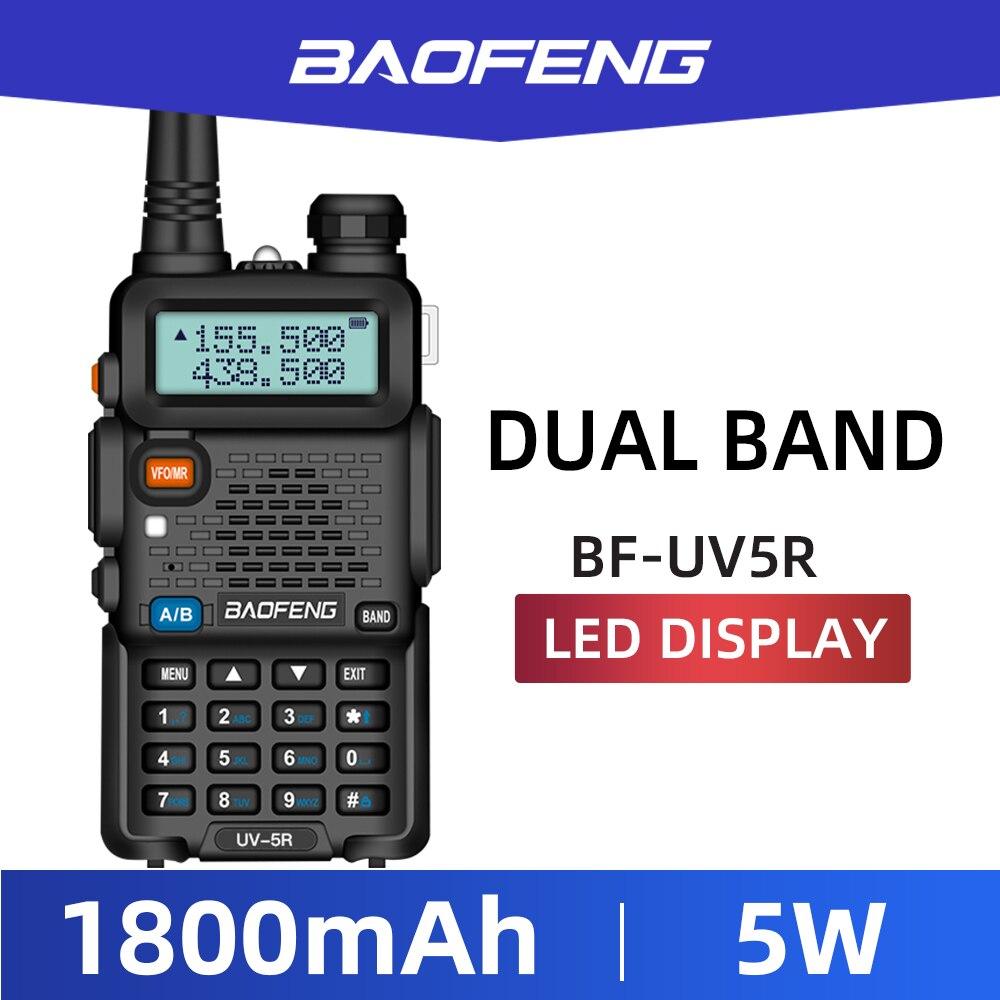 2 шт. Baofeng BF-UV5R двухдиапазонное двухстороннее радио Любительское радио портативная рация Pofung UV-5R 5 Вт VHF/UHF радио UV 5r CB радио