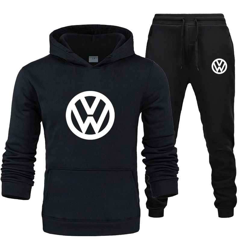 Permalink to 2019 autumn and winter men's hoodie suit pullover + pants 2-piece warm sportswear Ropa Hombre men's casual sportswear 12 colors