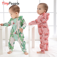 TinyPeople Baby Rompers autumn Cotton hooded Newborn Boys on
