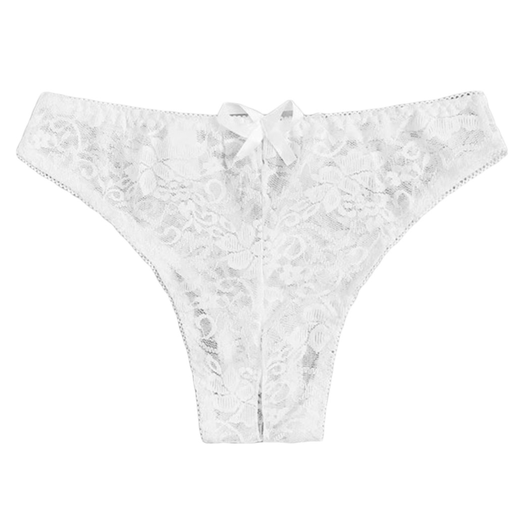 Women/'s Lace Floral Panties Crotchless Underwear Thongs Lingerie Briefs G-string