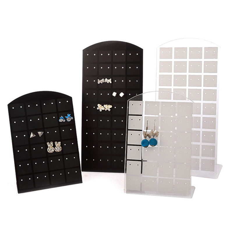 High Quality 24/48/72 Holes Jewelry Organizer Holder Stand Plastic Earring Display Show Case