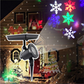 LED Solar Laser Light Outdoot/Indoor Projector Moving Snowflake Lamp Waterproof Christmas Party Stage Wall Garden Landscape Lamp